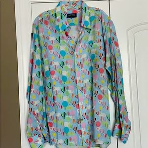 Michael 100% Italian linen Hot air balloon shirt!